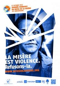affiche refus de la misère 2012